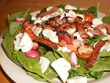 Atkins Spinach Salad with hot Bacon Vinagarette