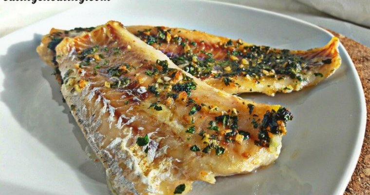 Oven baked hake fish fillet