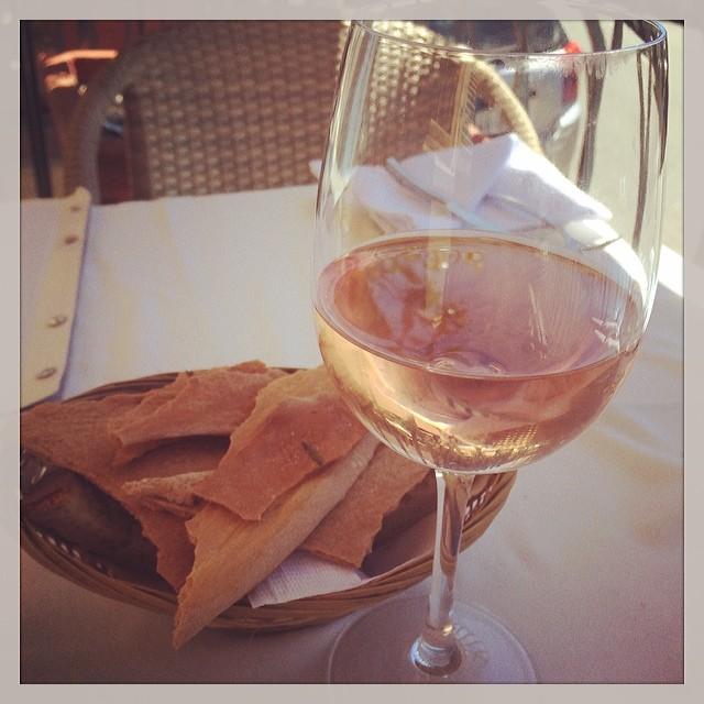 A crisp glass of rose awaited me