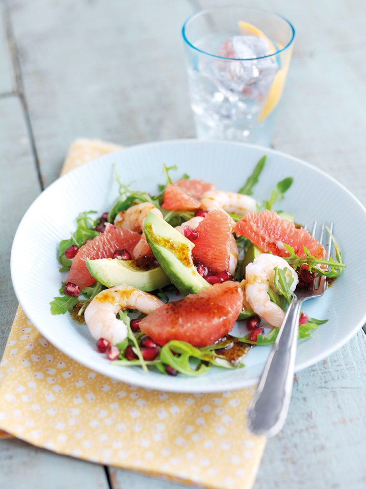 A beautifully colourful and summery salad