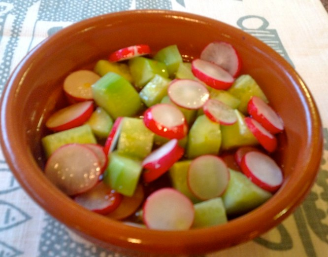 The crunchy salad with the zesty dressing