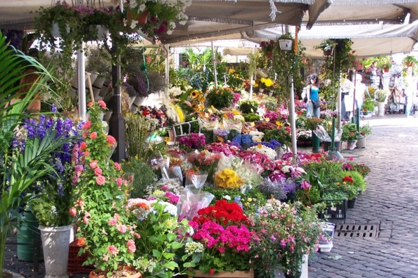 Flowers abound in the beautiful market
