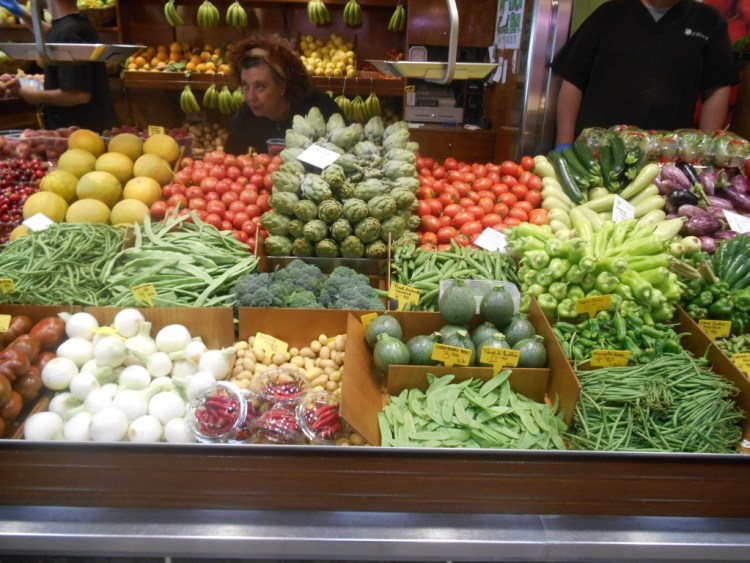 Glorious fruit and vegetables as far as the eye can see