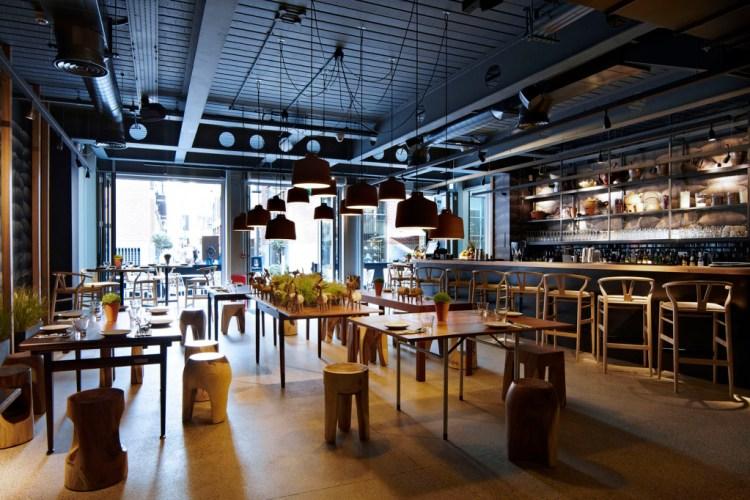 The elegantly welcoming bar