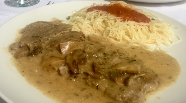 Veal tenderness in a luscious sauce