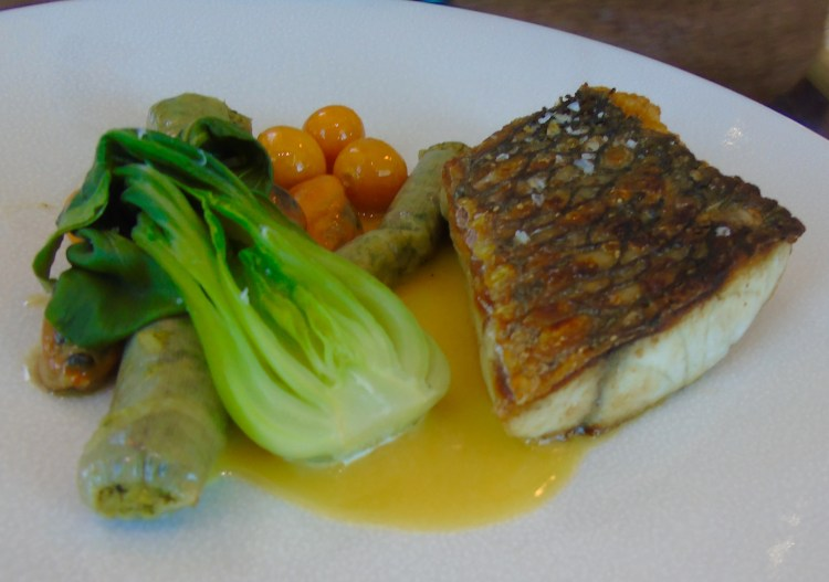 The sea bass at Waterkloof