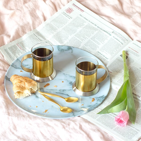 Brushed Gold Coffee Cups from MiaFleur