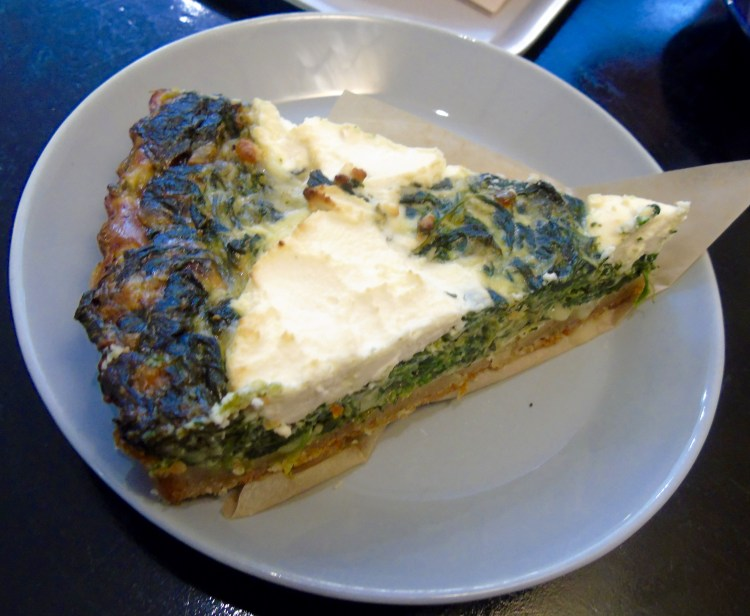 Nordic bakery: spinach and feta quiche