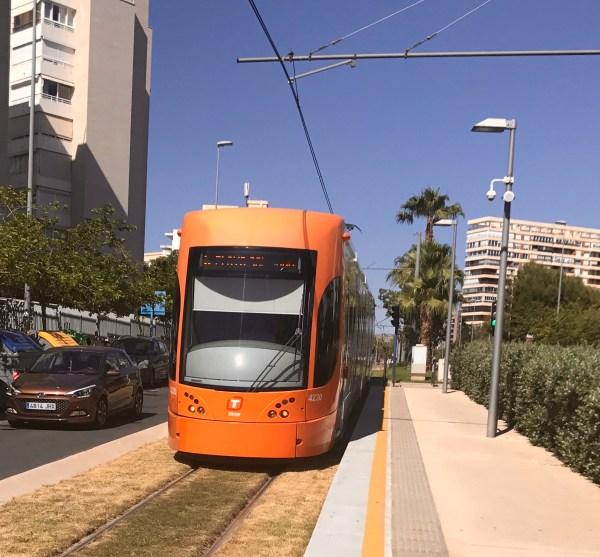 Alicante: the tram
