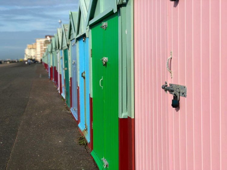 Brighton: beach huts