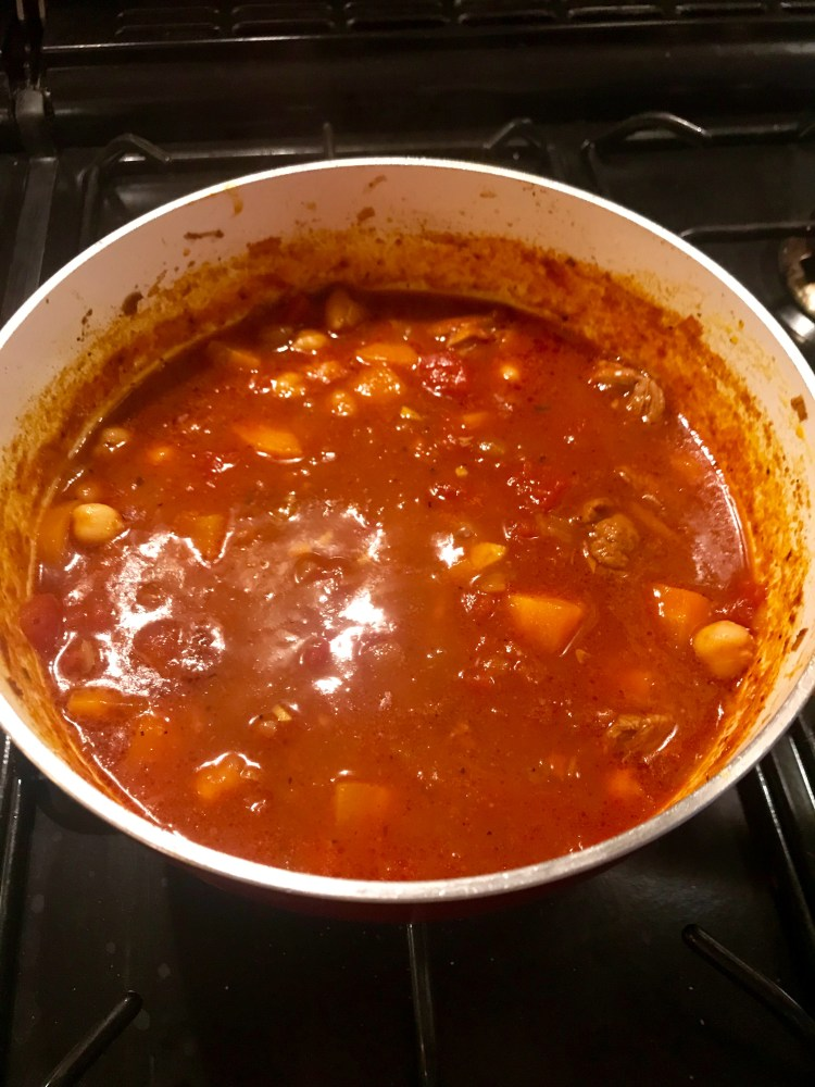Recipe: Spicy lamb and chickpea soup