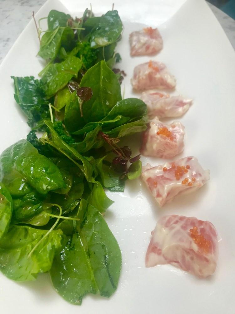 Babel House Mayfair: salmon salad