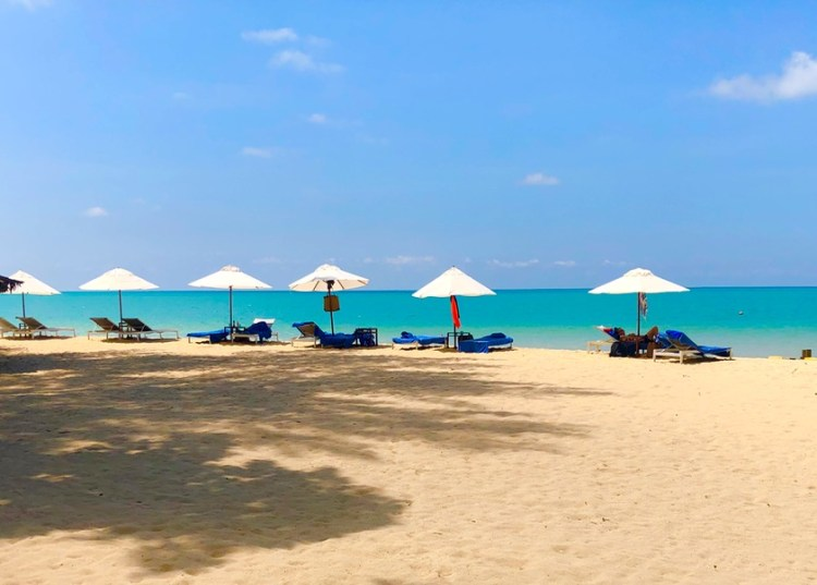 The Sarojin: beach
