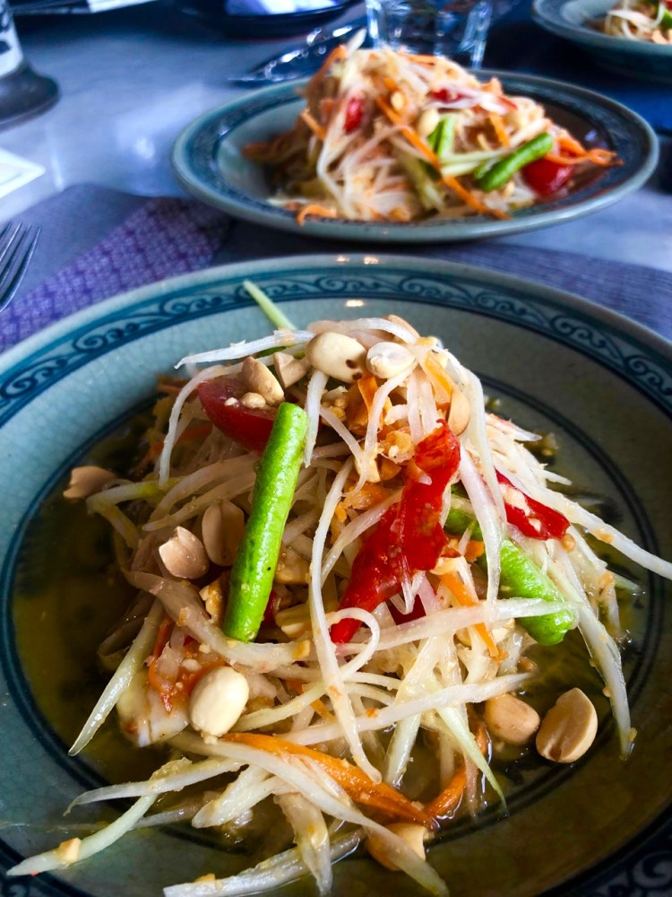 The Peninsula: green papaya salad