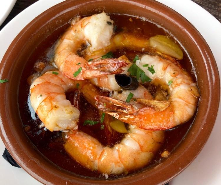 Brindisa: garlic prawns