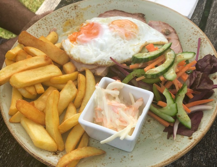 New Forest: ham, eggs and chips