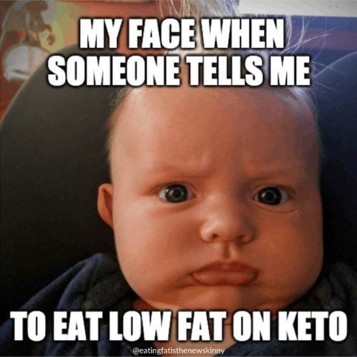 baby making funny face being told to eat low fat on a keto diet