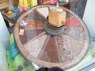 Display of Spices in Speciality Shop