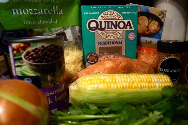 Ingredients for Honey-Lime Quinoa Stuffed Sweet Potatoes