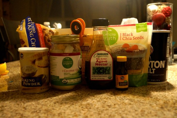 Ingredients for Paleo Chocolate Chip Cookies