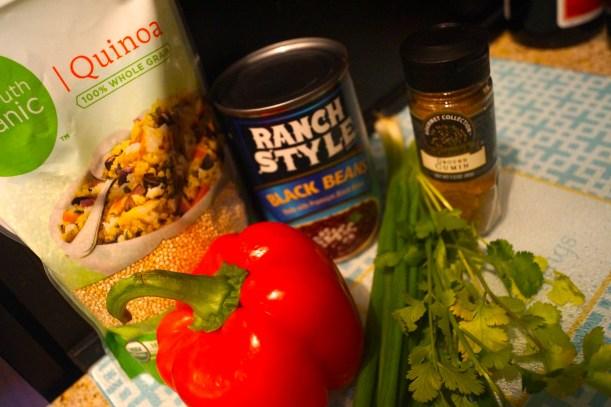 Southwestern Quinoa Salad Ingredients