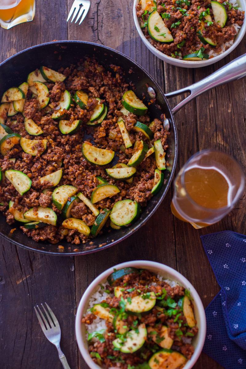 Zucchini Beef Skillet Recipe a One-Pot Paleo Dinner