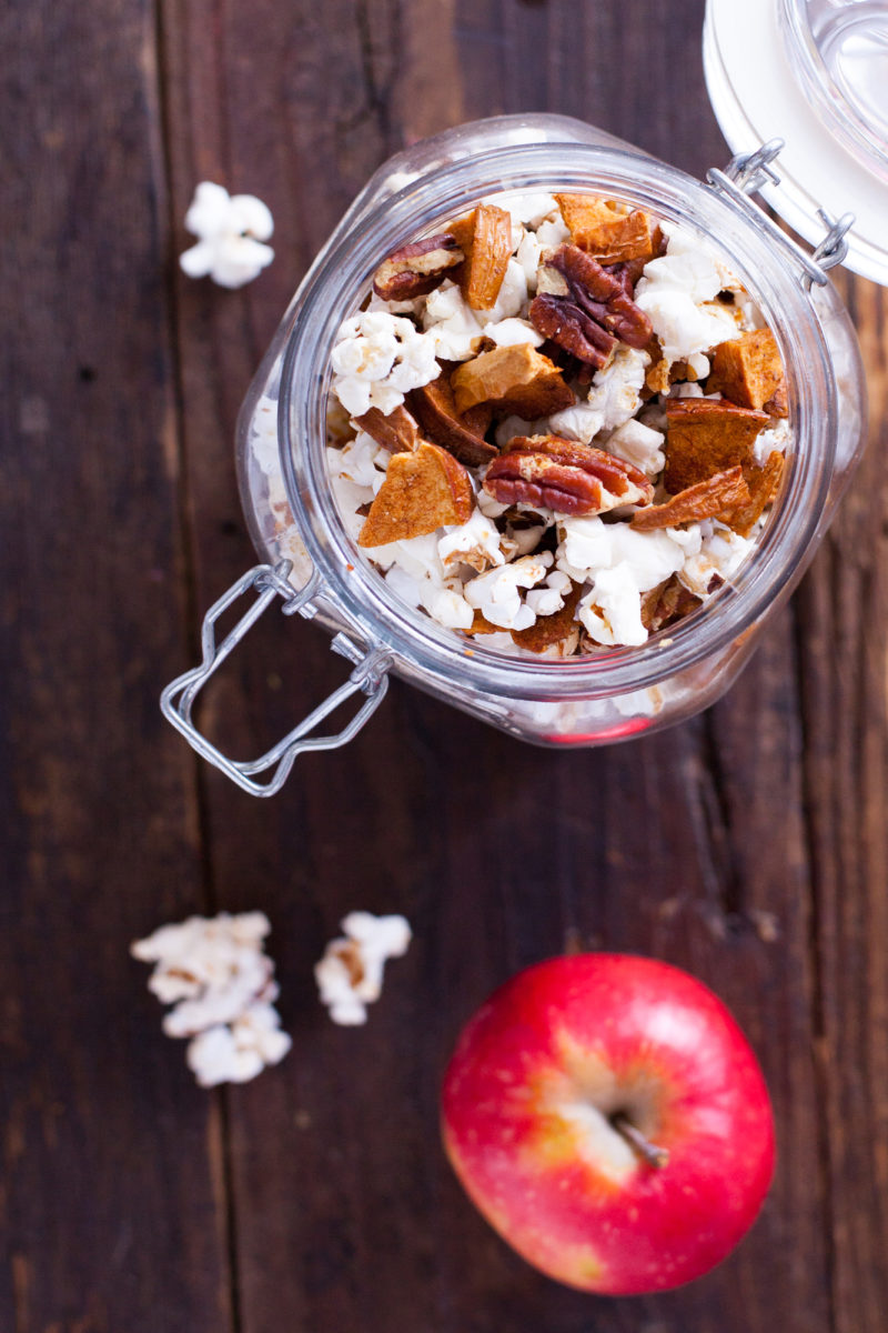 Cinnamon Popcorn Recipe With Apple And Pecans