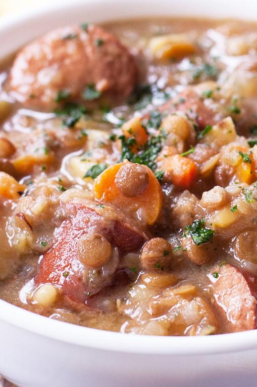 Lentil Soup Recipe with Sausage
