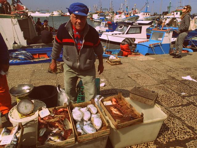 Fisherman at the Trapani fish market