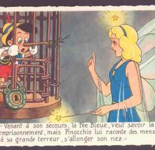 PinocchioVtgPostcard