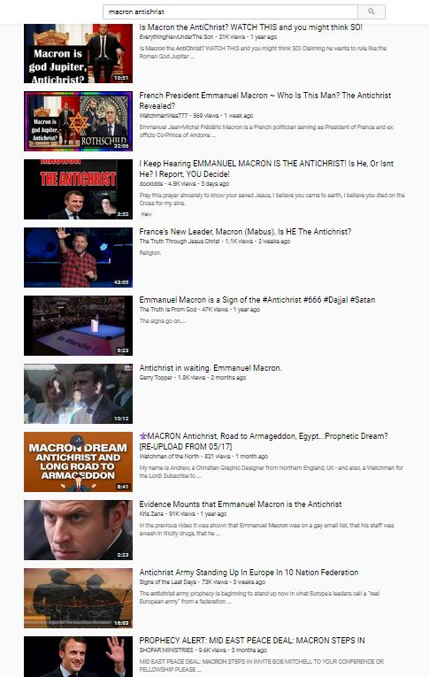 Is Macron the Antichrist YouTube search