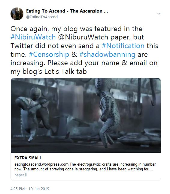 NibiruDaily10June2019ButTwitterShadowbannedNotifications