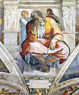 Jeremiah - Sistine Chapel _ Michelangelo