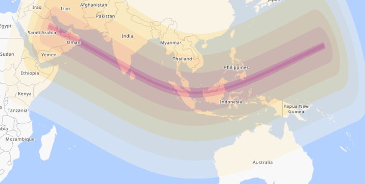 annular solar eclipse 25 december west dark saudi mecca map