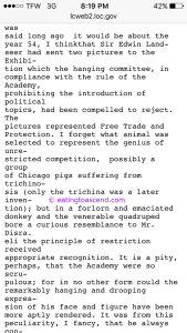 Proof that the illuminati invented trichinosis and infected the pigs in the Chicago stockyards in the late 1800's, from a victorian journal for the elite