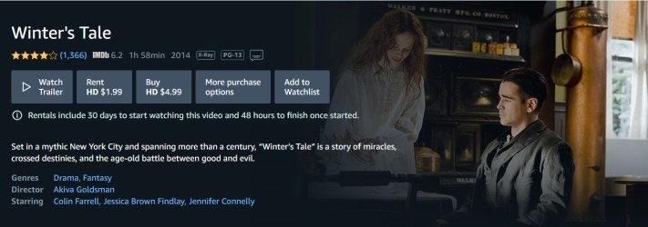 Winters Tale Amazon Prime