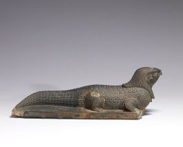 795px-Egyptian_Statue_of_Crocodile_with_Falcon_head_Walters__Right