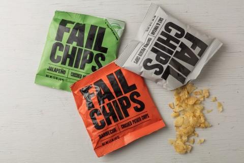 Fail Chips: batatas chips quebradas se tornaram deliciosamente certas