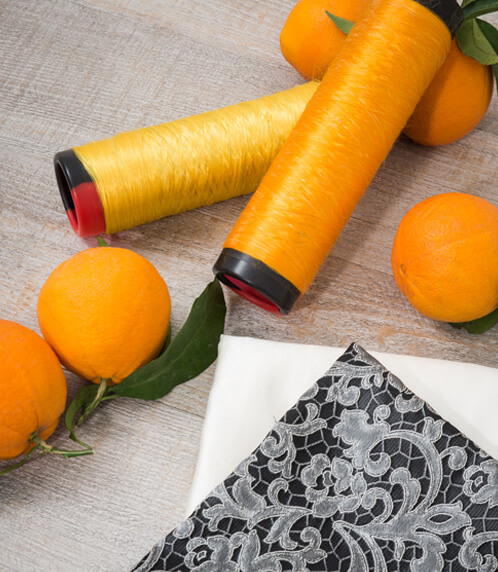 Orange is the new green: orange fabric is fashion!