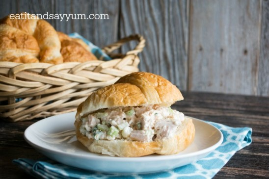 Chicken Salad Sandwiches on Croissants from Eat It & Say Yum