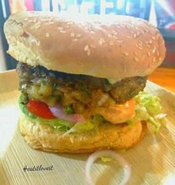 Cheesey Potato Burger aka Shakahari burger
