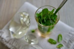 Frischer Ingwer-Pfefferminzhonig Tee