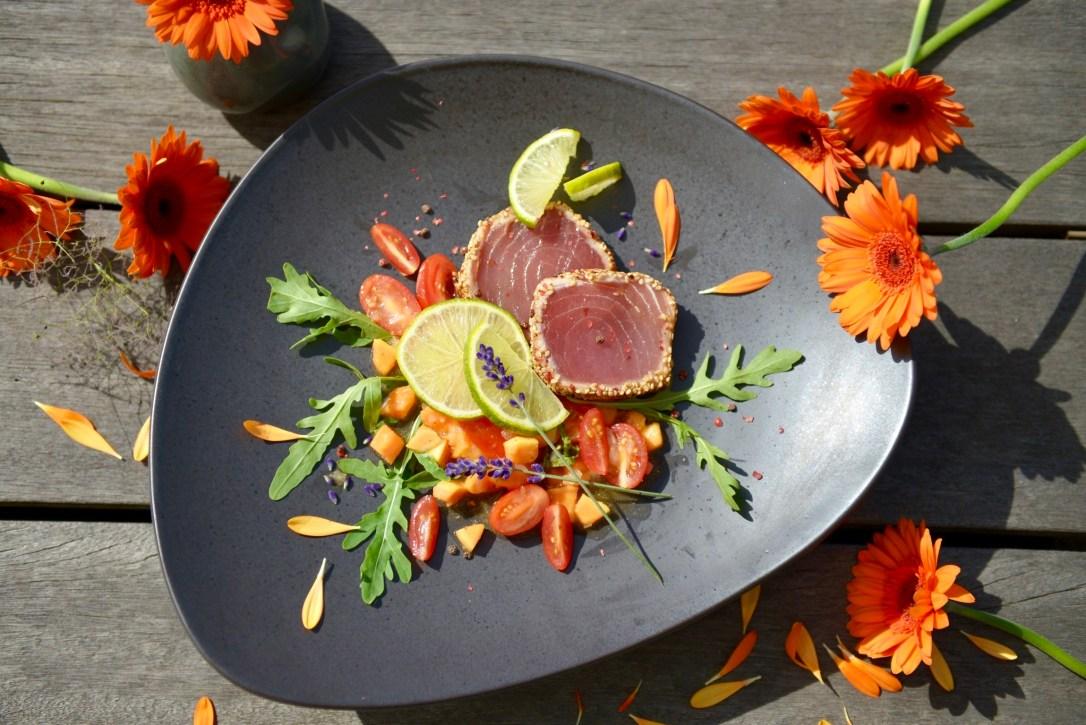 Asia Thunfisch mit Maui-Salsa