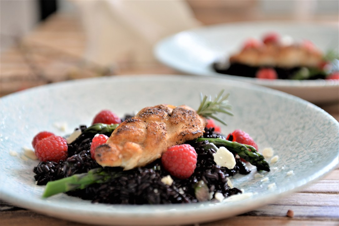 schwarzer Reis, Pouletgericht, leichtes Rezept mit Poulet