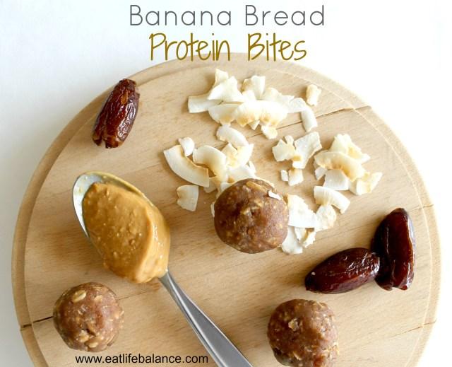 Banana Bread Protein Bites