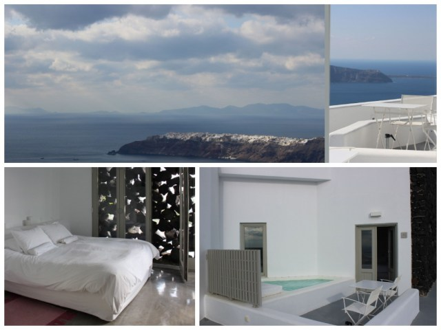 Grace, Santorini: my room and view/