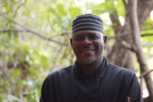 Michael, sous chef from the Rainforest Hideaway, who I cooked with