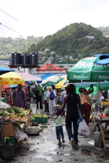 The market in St Lucia