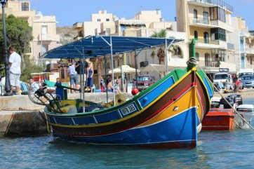 Traditional Maltese fishing boat in Gozo