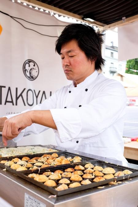 {Japanese Takoyaki on offer.}